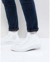 b9e24be7ce34 Lyst - Converse Chuck Taylor All Star Ii Hi-top Plimsolls In Red ...
