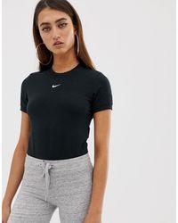Nike Body à manches courtes - Noir