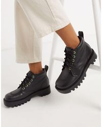 Kickers Kizziie Hi - Anfibi alla caviglia con suola a carrarmato neri - Nero