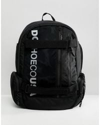 016e0973be69 DC Shoes - Skate Backpack In Black With Logo - Lyst