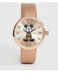 Disney Mickey Mouse Ladies Watch In Rose Gold - Natural
