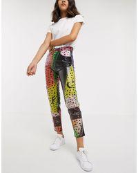 Fiorucci Pantalon taille haute motif animal - colore - Multicolore