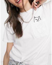 RIPNDIP Ripndip Lord Nermal Pocket T-shirt - White