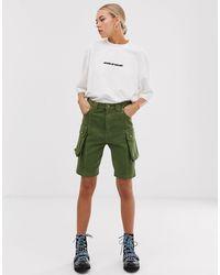 House of Holland Safari Mid Length Shorts - Green