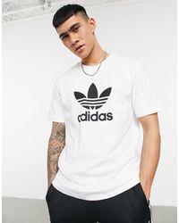 adidas Originals Белая Футболка С Крупным Логотипом Adicolor-белый