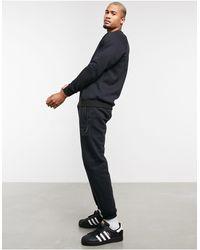adidas Originals Co-ord sweatpants With Collegiate Crest - Black