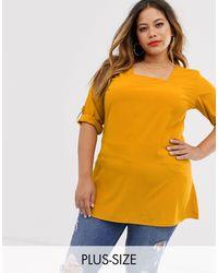 AX Paris Блузка С Квадратным Вырезом -желтый