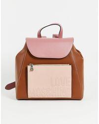 Love Moschino Розовый Рюкзак С Логотипом -розовый Цвет