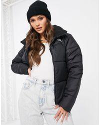 The North Face Saikuru Crop Puffer Jacket - Black