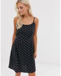Vero Moda Cami-jurk Met Vierkante Hals En Bohoprint - Meerkleurig