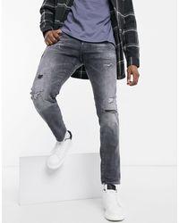 G-Star RAW - – Eng geschnittene Distressed-Jeans - Lyst