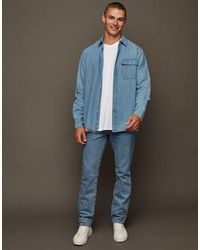 TOPMAN Straight Jeans - Grey