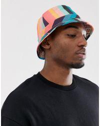 Paul Smith Artist Stripe Bucket Hat - Multicolour