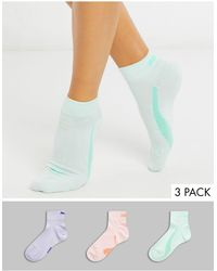 PUMA – 3er-Set pastellfarbene Socken - Mehrfarbig