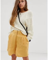Free People Brittany Long Beach Shorts - Natural
