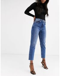 TOPSHOP Straight Leg Jeans - Blue