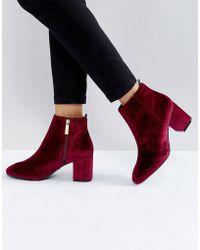 Ivyrevel - Velvet Heeled Ankle Boot - Lyst