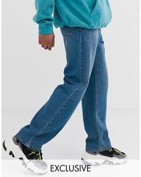 Reclaimed (vintage) Inspired Skater Fit Jean - Blue