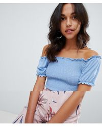Vila - Smock Top With Puff Ball Sleeve - Lyst