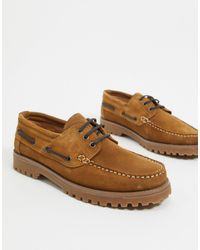 River Island Chunky Boat Shoes - Brown