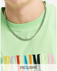 Reclaimed (vintage) Inspired T Bar Chain Necklace - Metallic