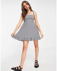 Abercrombie & Fitch Tie Strap Babydoll Dress - Blue