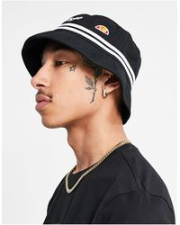 Ellesse Logo Stripe Bucket Hat - Black