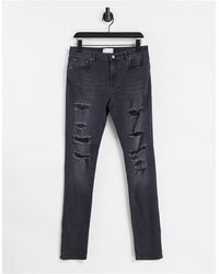 ASOS – Enge Jeans - Schwarz