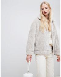 Vero Moda - Teddy Borg Jacket - Lyst