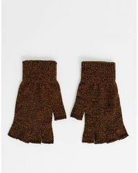 ASOS Перчатки Табачного Цвета Без Пальцев - Коричневый
