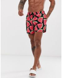2cf4f3a50a845 New Look Runner Swim Shorts In Black in Black for Men - Lyst