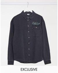 Reclaimed (vintage) Inspired Unisex Denim Shirt - Blue