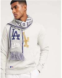 KTZ Mlb La Dodgers Knitted Scarf - Grey