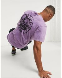 Bershka Guns N Roses T-shirt - Purple