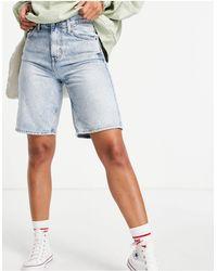 TOPSHOP Long-line Editor Shorts - Blue