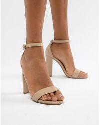 Steve Madden - Carson Leather Blush Pink Heeled Sandals - Lyst