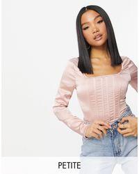 Missguided Body a corsetto - Rosa
