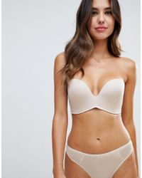 Wonderbra New Ultimate Strapless Bra A - G Cup - Natural