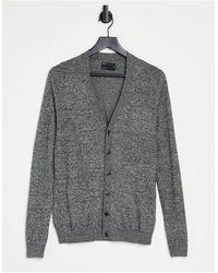 ASOS Knitted Cotton Cardigan - Grey