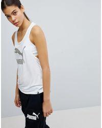 PUMA - Logo Vest In White - Lyst