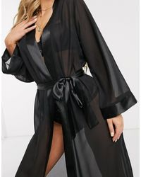 Bluebella Maxi Kimono - Black