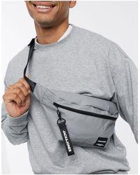 Jack & Jones Men's Zip Front Bum Bag New Look - Grey