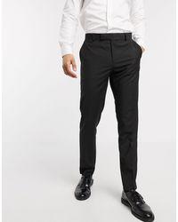 ASOS Slim Smart Trousers - Black