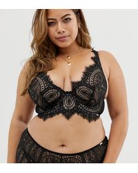 Figleaves - Adore Lace Bra With High Apex In Black - Lyst