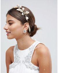 LoveRocks London - Gold Leaf & Pearl Hair Crown - Lyst