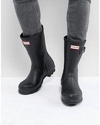 HUNTER Original - Stivali da pioggia corti neri - Nero