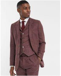 ASOS Slim Suit Jacket - Purple