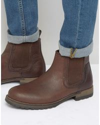 Red Tape - Leather Chelsea Boots - Lyst