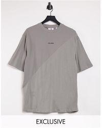 Collusion Oversized-футболка С Однотонными Вставками Unisex-серый