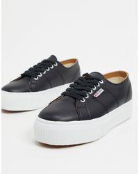 Superga 2790 Nappale - Sneakers flatform stringate nere - Nero
